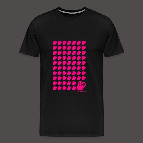 Re:Sound Music - Neon Pink on Black (With Logo) - Men's Premium T-Shirt