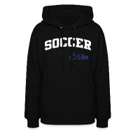 Hoodies ~ Women's Hoodie ~ Soccer, Facebook Like