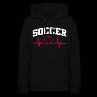 Hoodies ~ Women's Hoodie ~ Soccer, Heart rate