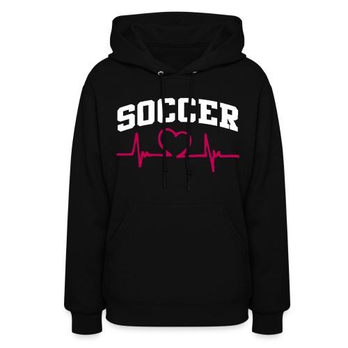 Soccer, Heart rate - Women's Hoodie