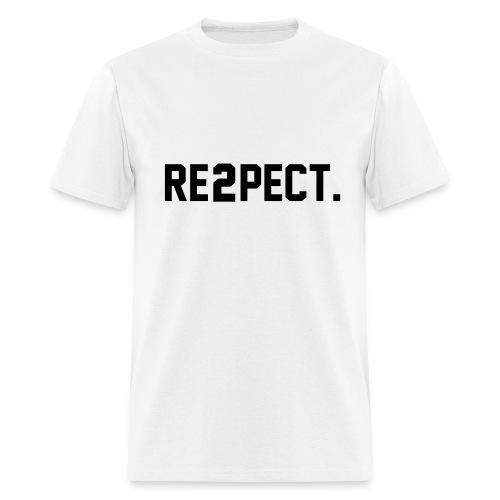RESPECT BLACK/WHITE/RED BLOCKWEAR TEE - Men's T-Shirt