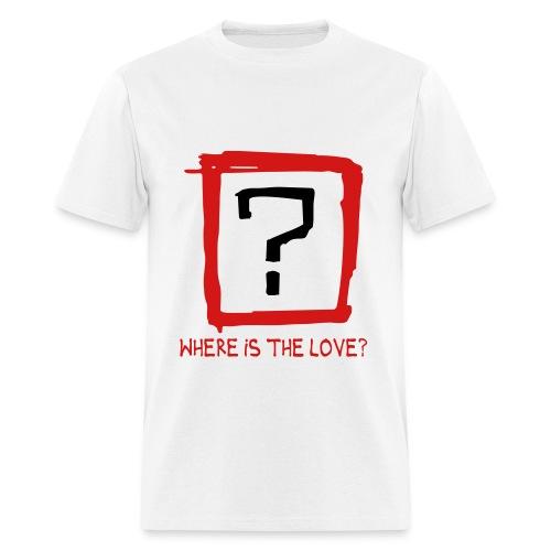WHERE'S THE LOVE BLOCKWEAR WHITE  - Men's T-Shirt