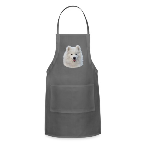 Adjustable Apron - samoyed,fluffy puppy,fluffy dog,dog
