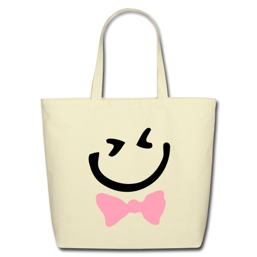 Pink Bowtie - Eco-Friendly Cotton Tote
