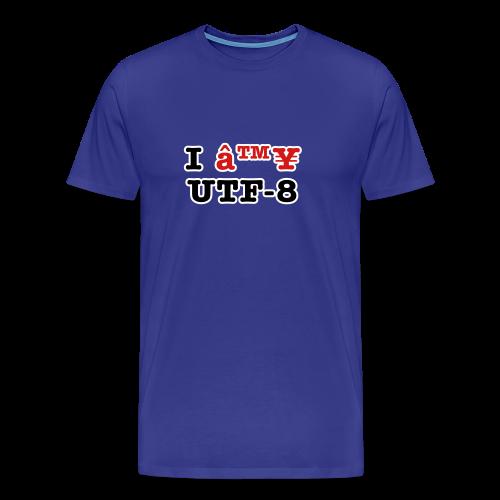 I ♥ UTF-8 - Men's Premium T-Shirt