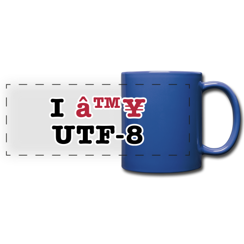 I ♥ UTF-8 - Full Color Panoramic Mug
