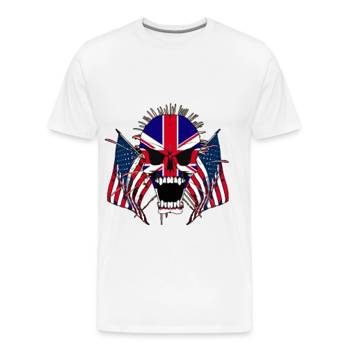 European Screaming Skull - Men's Premium T-Shirt
