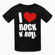 I Love Rock N Roll Kids' Shirts