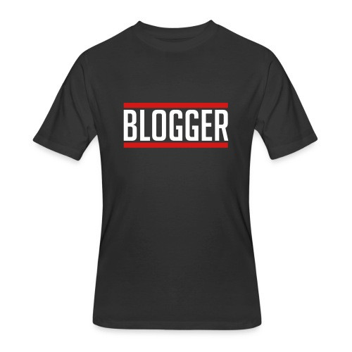 Blogger Red Lines unisex tshirt - Men's 50/50 T-Shirt