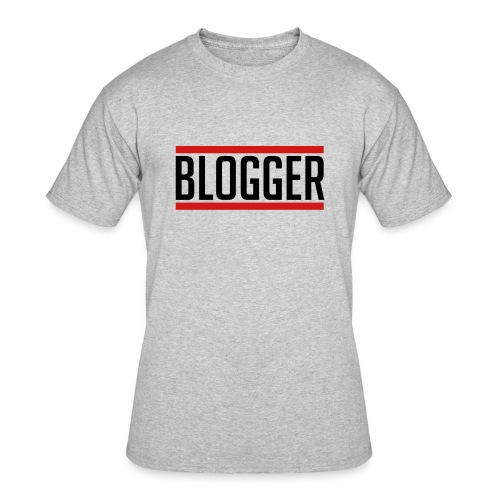 Blogger Red Lines unisex tshirt - Men's 50/50 T-Shirt