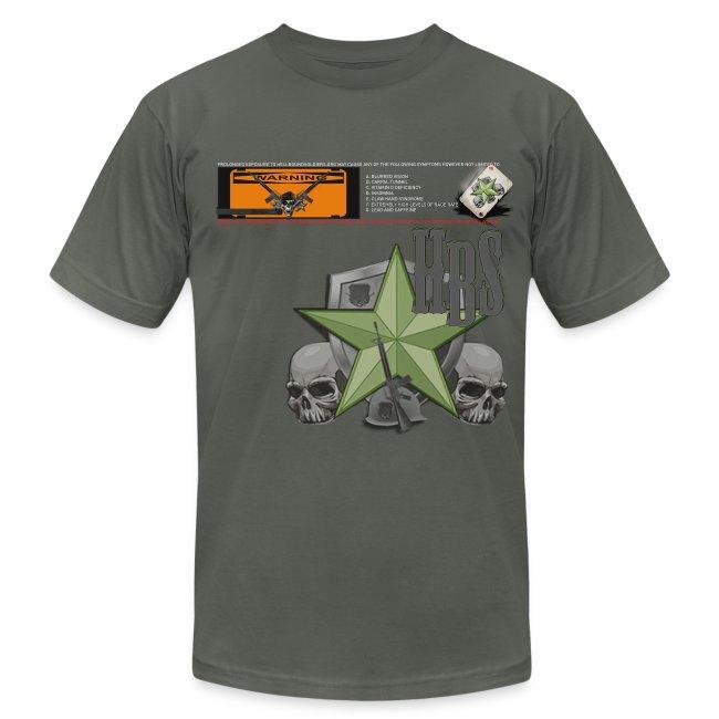 A7 - WARNING Retro Men's T-Shirt by American Apparel