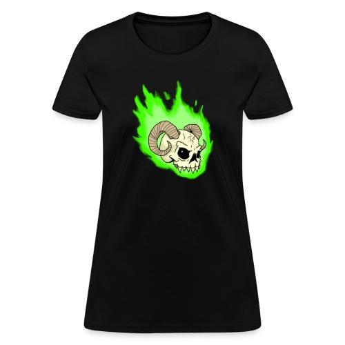 Necrotic Lady Flames - Women's T-Shirt