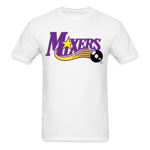 Mixers - DJ purple/yellow - Men's T-Shirt