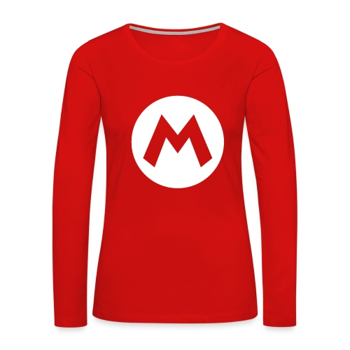 Mario Long Sleeve T-Shirt | Womens - Women's Premium Long Sleeve T-Shirt