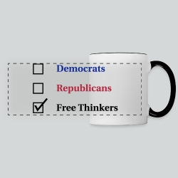 Election Ballot - Free Thinkers - Panoramic Mug