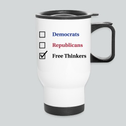 Election Ballot - Free Thinkers - Travel Mug
