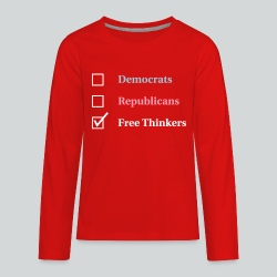 Election Ballot - Free Thinkers - Kids' Premium Long Sleeve T-Shirt