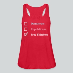 Election Ballot - Free Thinkers - Women's Flowy Tank Top by Bella