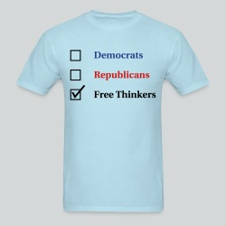 Election Ballot - Free Thinkers - Men's T-Shirt
