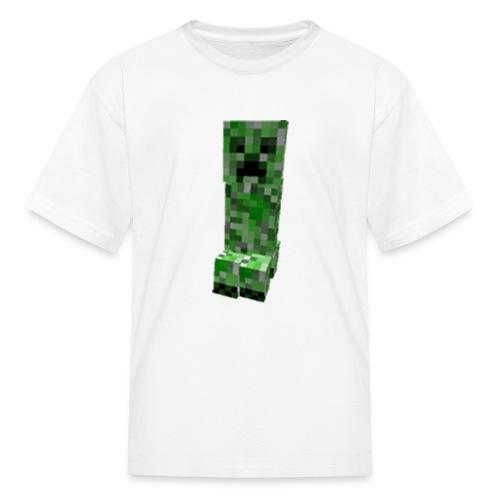 Minecraft: Creeper Full Face Pixelated Pixel - Creative Survival Hungry Cool Diamond Sword Pick Axe Food Mining Design Fun Nerd Geek Gaming Party Swag Dope Fresh Man Men Woman Women T-Shirt T Shirt TShirt - Kids' T-Shirt