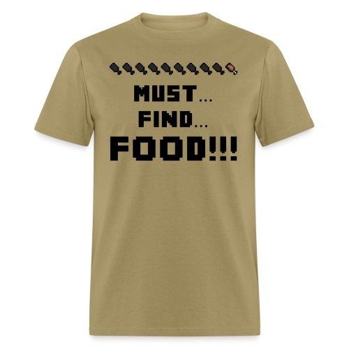 Minecraft: Minecraft: Must... Find... FOOD!!! - Creeper Creative Survival Hungry Cool Diamond Sword Pick Axe Food Mining Design Fun Nerd Geek Gaming Party Swag Dope Fresh Man Men Woman Women T-Shirt T Shirt TShirt  - Men's T-Shirt