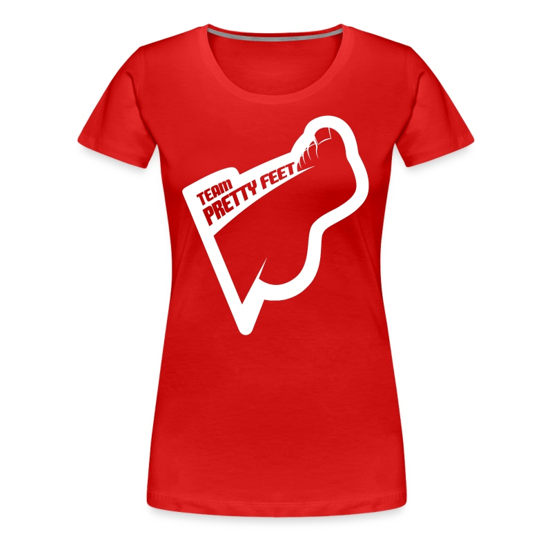 Team Pretty Feet™ White Logo Women's Premium Tee - Women's Premium T-Shirt