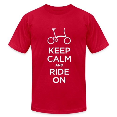 Keep Calm and Ride a Brompton (White)  American Apparel T Shirt - Men's Fine Jersey T-Shirt