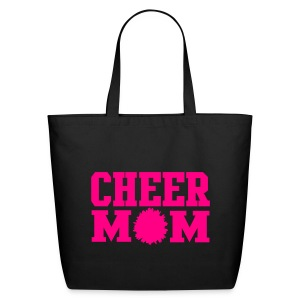HOT PINK cheer mom tote - Eco-Friendly Cotton Tote