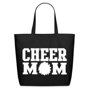 white cheer mom tote - Eco-Friendly Cotton Tote