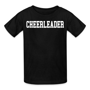 Black and white cheerleader kids tee - Kids' T-Shirt