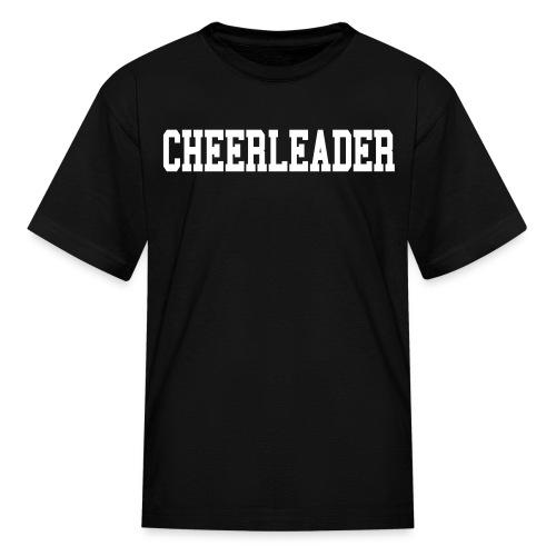 Black and white cheerleader kids tee - Kids' T-Shirt