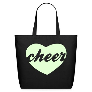 GLOW IN THE DARK cheer heart tote - Eco-Friendly Cotton Tote
