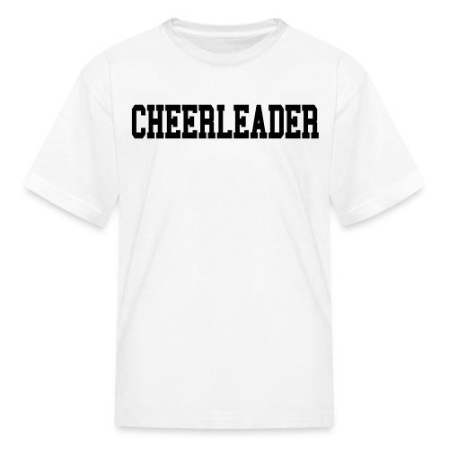 Black cheerleader kids tee - Kids' T-Shirt