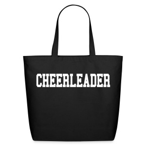 Black and white cheerleader tote - Eco-Friendly Cotton Tote