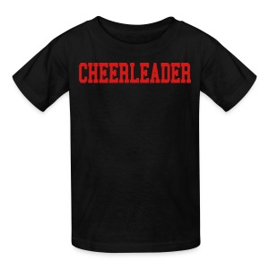 Black and red Cheerleader kids tee - Kids' T-Shirt