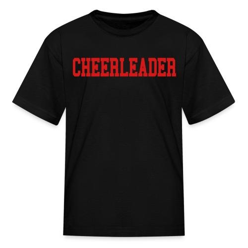 Black and red Cheerleader kids tee - Kids' T-Shirt