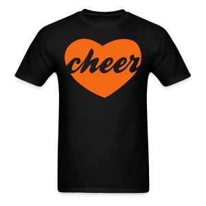 Orange cheer heart tee - Men's T-Shirt