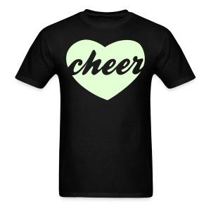 GLOW IN THE DARK cheer heart tee - Men's T-Shirt