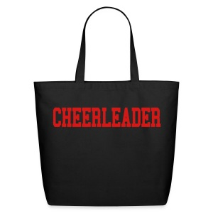 Black and red cheerleader tote - Eco-Friendly Cotton Tote