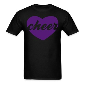 Purple cheer heart tee - Men's T-Shirt