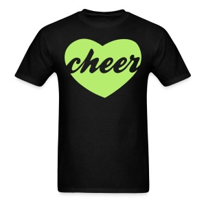 Lime cheer heart tee - Men's T-Shirt
