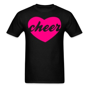 Hot pink cheer heart tee - Men's T-Shirt