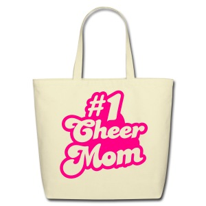 #1 Cheer Mom tote - Eco-Friendly Cotton Tote