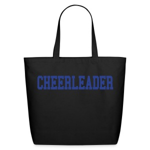 Black and blue cheerleader tote - Eco-Friendly Cotton Tote