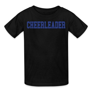 Black and blue cheerleader kids tee - Kids' T-Shirt