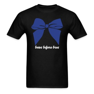 Bows before bros - blue - Men's T-Shirt