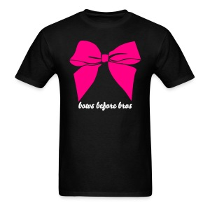 Bows before bros - pink - Men's T-Shirt