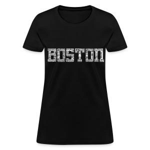 Boston by Streets - Women's T-Shirt