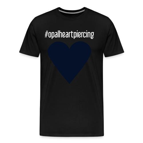 Opal Heart (premium black glitz) - Men's Premium T-Shirt