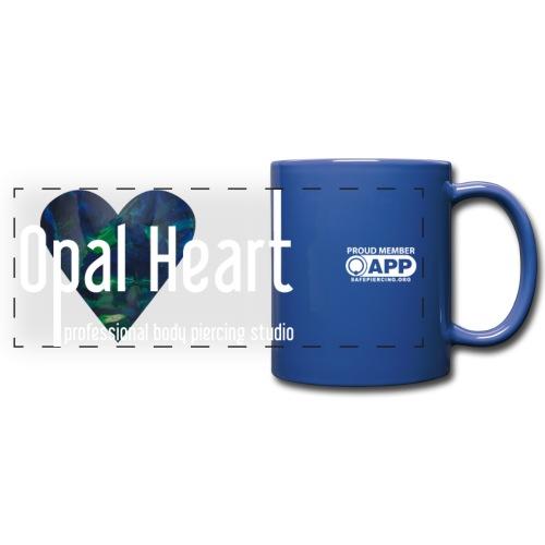 Opal Heart Blue Mug - Full Color Panoramic Mug
